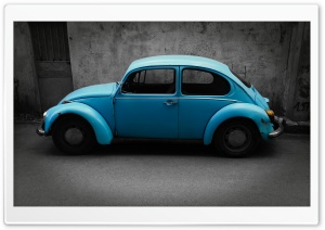 Old Blue Volkswagen HD Wide Wallpaper for Widescreen
