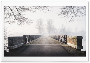 Old Bridge, Mist, Fog, Cold Weather Ultra HD Wallpaper for 4K UHD Widescreen desktop, tablet & smartphone
