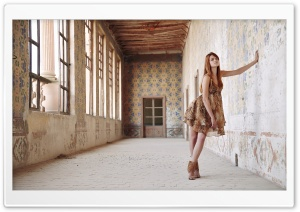 Old Building - Girl HD Wide Wallpaper for Widescreen