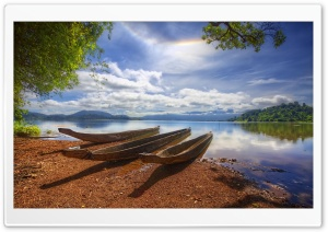 Old Canoes HD Wide Wallpaper for Widescreen