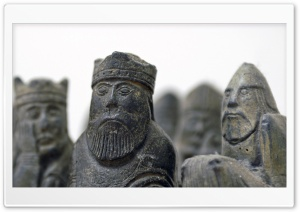 Old Chess Figures HD Wide Wallpaper for Widescreen