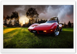 Old Chevrolet Corvette HD Wide Wallpaper for Widescreen