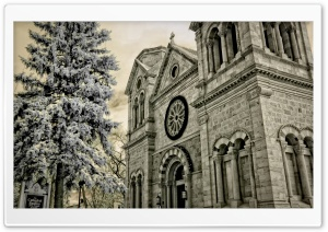 Old Church Building HD Wide Wallpaper for Widescreen