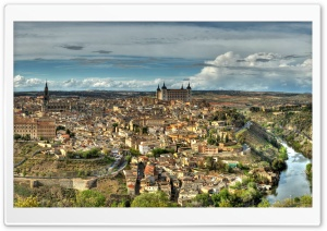 Old city of Toledo, Spain HD Wide Wallpaper for 4K UHD Widescreen desktop & smartphone