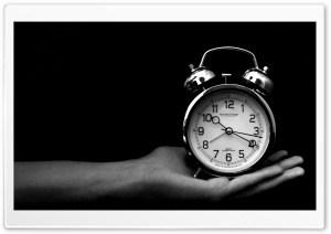 Old Clock Black And White HD Wide Wallpaper for Widescreen
