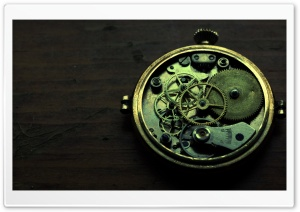 Old Clock Mechanism HD Wide Wallpaper for Widescreen