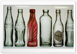 Old Coca-Cola Bottles HD Wide Wallpaper for Widescreen