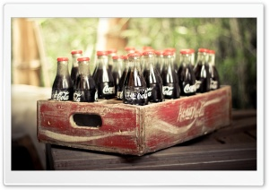 Old Coca Cola Bottles HD Wide Wallpaper for Widescreen