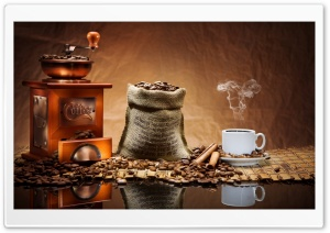 Old Coffee Grinder HD Wide Wallpaper for Widescreen