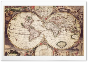 Old Earth Map HD Wide Wallpaper for Widescreen