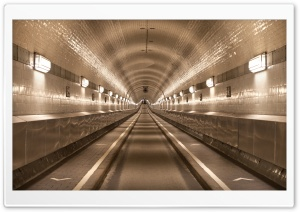 Old Elbe Tunnel in Hamburg, Germany HD Wide Wallpaper for Widescreen