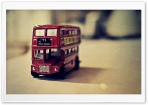 Old English Bus Toy HD Wide Wallpaper for Widescreen