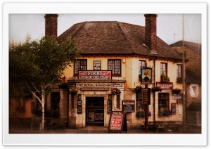 Old English Pub HD Wide Wallpaper for Widescreen