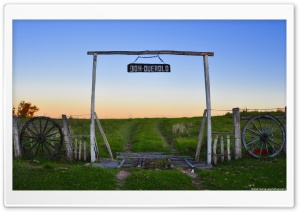 Old Farm Gate HD Wide Wallpaper for 4K UHD Widescreen desktop & smartphone