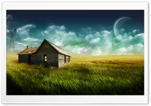 Old Farmhouse HD Wide Wallpaper for Widescreen