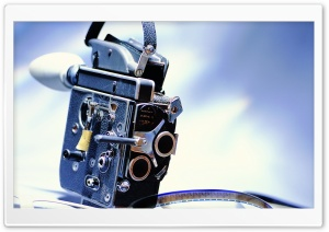 Old Filming Camera HD Wide Wallpaper for Widescreen