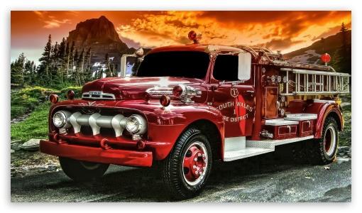 Old Fire Truck Ultra Hd Desktop Background Wallpaper For 4k