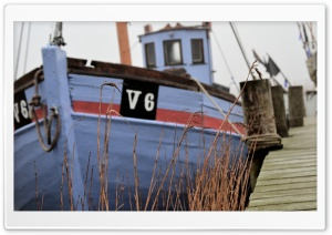 Old fishing boat in Denmark HD Wide Wallpaper for Widescreen