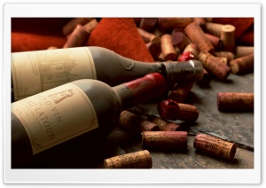 Old French Wine Bottles HD Wide Wallpaper for Widescreen