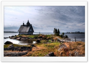 Old Lake Cottage HD Wide Wallpaper for Widescreen