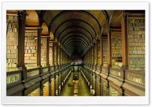 Old Library HD Wide Wallpaper for Widescreen