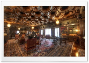 Old Library Room HD Wide Wallpaper for Widescreen