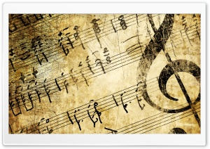 Old Music Score HD Wide Wallpaper for Widescreen