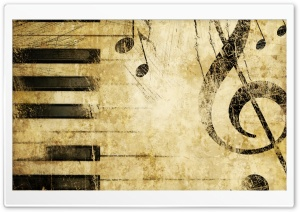 Old Music Score Background HD Wide Wallpaper for Widescreen