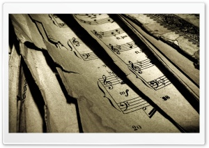 Old Music Sheets HD Wide Wallpaper for Widescreen