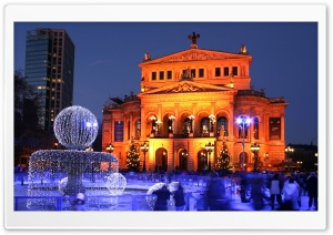 Old Opera in Frankfurt am Main, Germany HD Wide Wallpaper for Widescreen