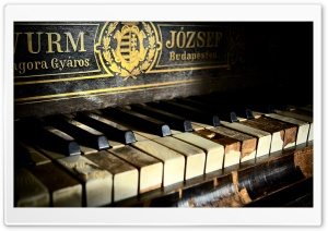 Old Piano HD Wide Wallpaper for 4K UHD Widescreen desktop & smartphone