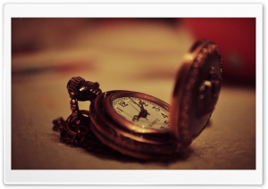 Old Pocket Watch HD Wide Wallpaper for Widescreen