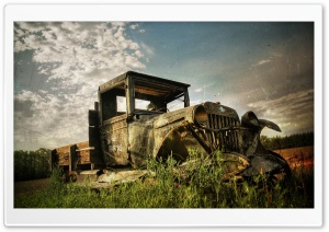 Old Rusty Car HD Wide Wallpaper for Widescreen