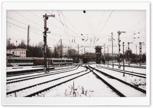 Old Train in Snow Ultra HD Wallpaper for 4K UHD Widescreen desktop, tablet & smartphone