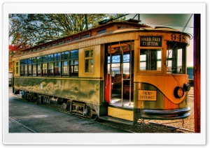Old Tram HD Wide Wallpaper for Widescreen
