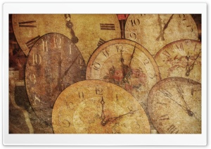 Old Watches Painting HD Wide Wallpaper for Widescreen
