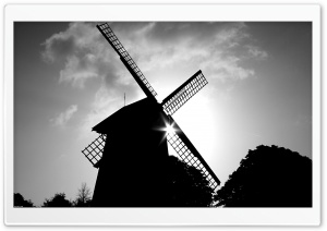 Old Windmill HD Wide Wallpaper for 4K UHD Widescreen desktop & smartphone