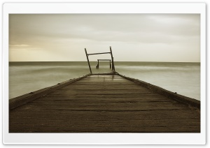 Old Wood Pier HD Wide Wallpaper for Widescreen
