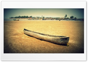 Old Wooden Canoe HD Wide Wallpaper for Widescreen