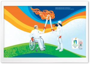 Olympic Torch HD Wide Wallpaper for Widescreen