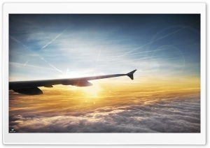 On The Plane HD Wide Wallpaper for 4K UHD Widescreen desktop & smartphone