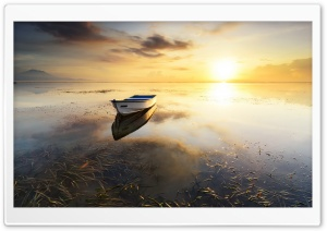 One Boat HD Wide Wallpaper for Widescreen