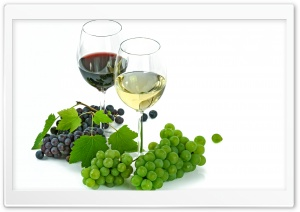 One Glass of Red Wine and One Glass Of White Wine HD Wide Wallpaper for Widescreen