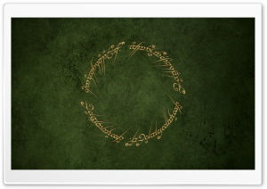 One Green Ring HD Wide Wallpaper for Widescreen