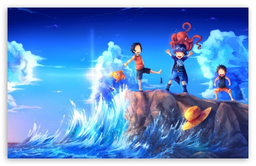 One Piece Art Sabo Portgas D Ace Luffy Ultra Hd Desktop Background Wallpaper For Multi Display Dual Monitor Tablet Smartphone