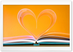 Open Book Heart Ultra HD Wallpaper for 4K UHD Widescreen desktop, tablet & smartphone