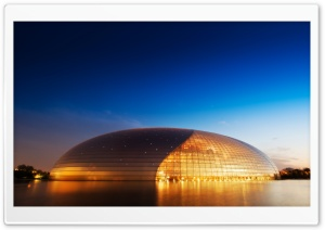 Opera House in Beijing, China HD Wide Wallpaper for 4K UHD Widescreen desktop & smartphone