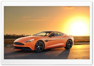 Orange Aston Martin Vanquish Car HD Wide Wallpaper for Widescreen