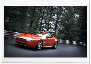 Orange Aston Martin Vantage V8 HD Wide Wallpaper for Widescreen