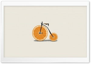 Orange Bicycle HD Wide Wallpaper for Widescreen